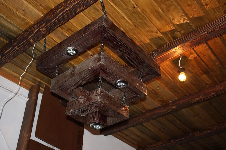 люстры деревянные под старину фото