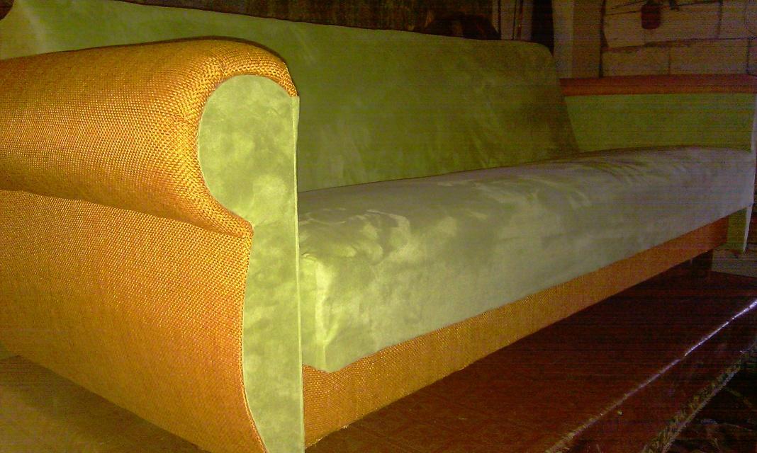 Как своими руками перетянуть диван тканью в