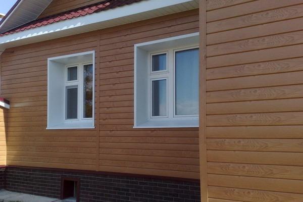 Фасады домов из металлосайдинга фото