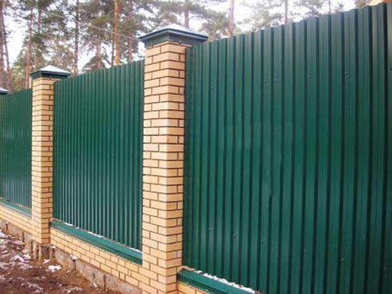 Ворота з металопроф лю откатн е ворота
