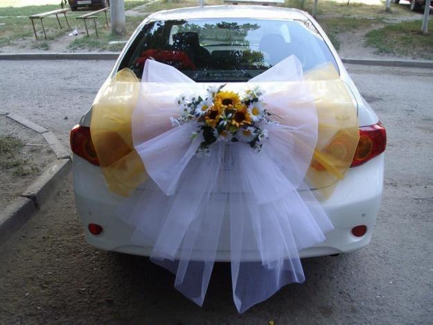 Как сделать украшение на свадьбу на машину