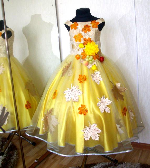 Платья для праздника осени своими руками