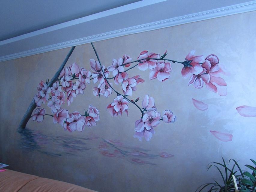 Роспись стен своими руками акрил