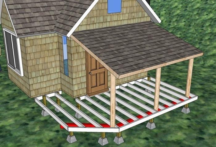 Построить веранду на даче своими руками видео