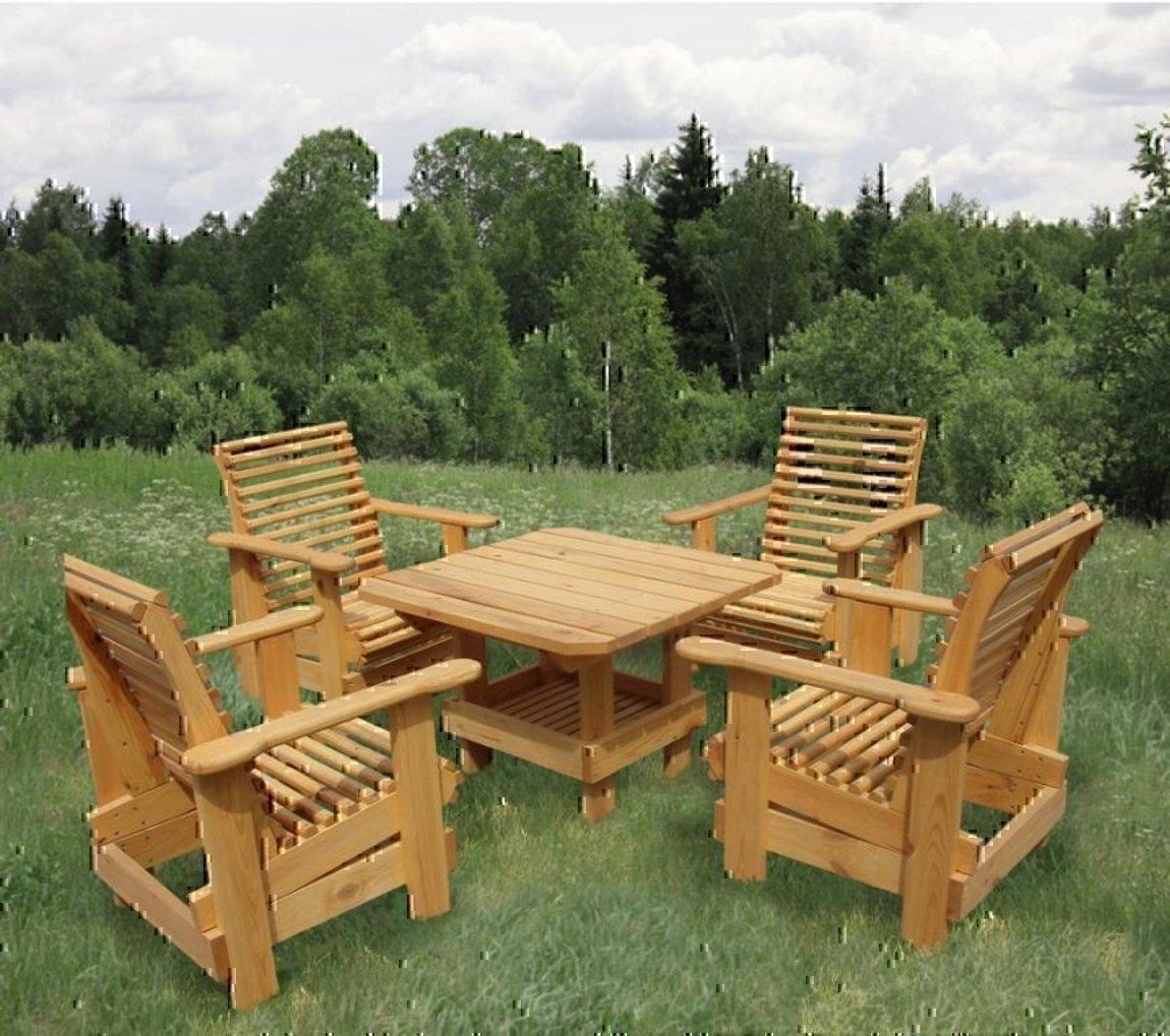 Деревянные столы и стулья для дачи из сосны своими руками фото 15