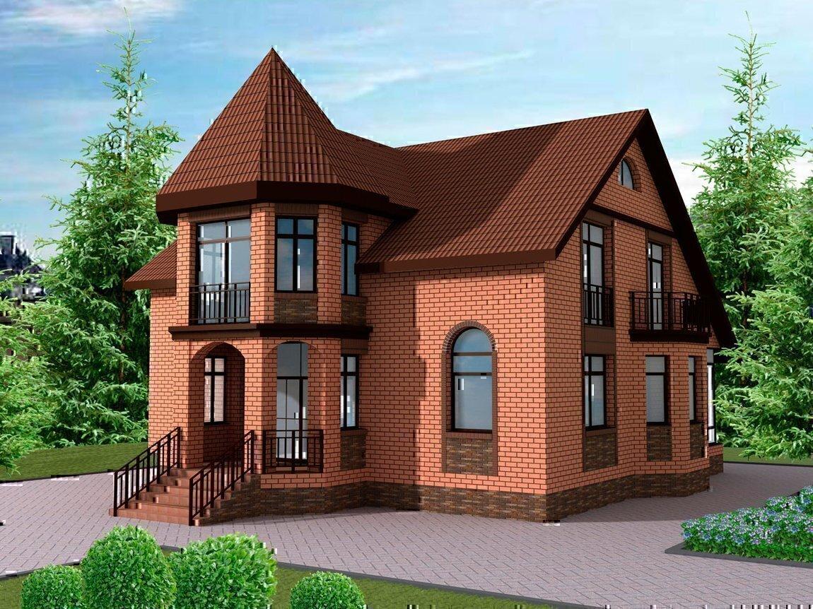 Дизайн кирпичного дома фото