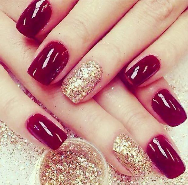 Вишнёвый дизайн ногтей