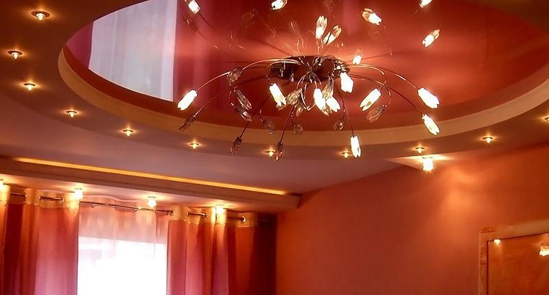 какие есть светильники для натяжных потолков
