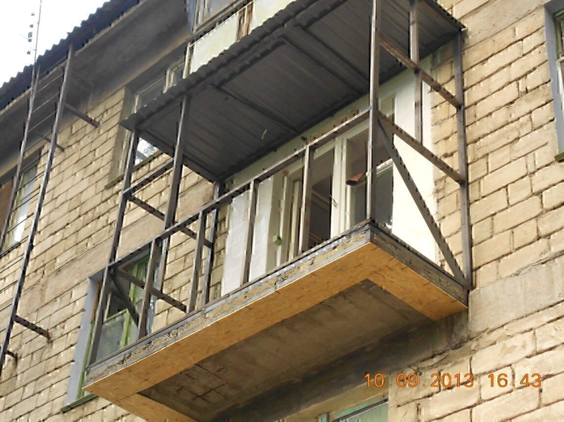 Утепление козырька балкона..