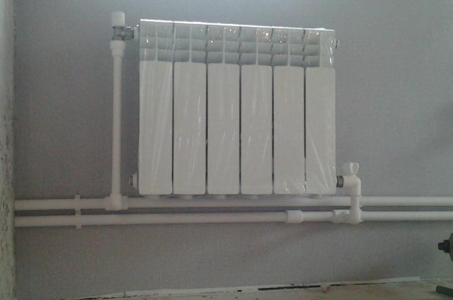 Установка радиатора своими руками фото