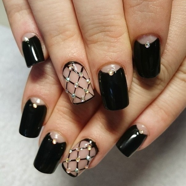Дизайн шеллака черного цвета