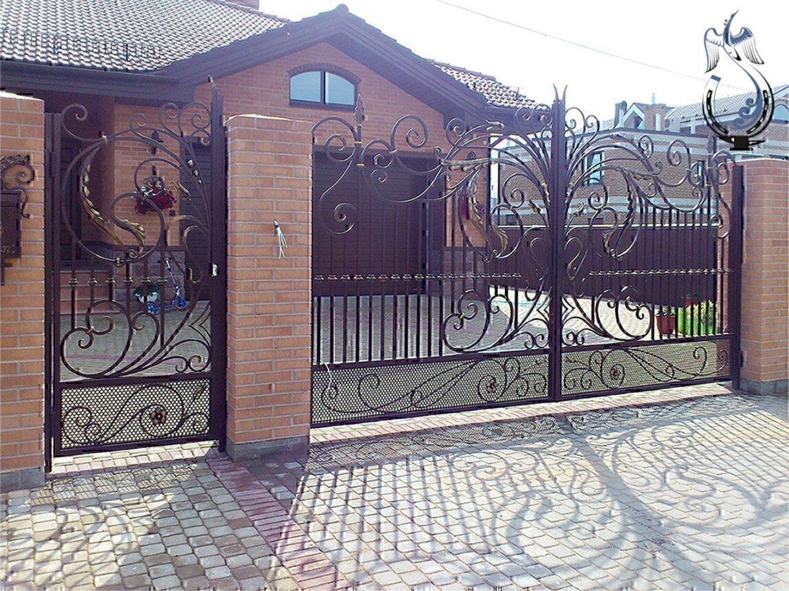 Металические ворота в ульяновск ворота для дачи фот о