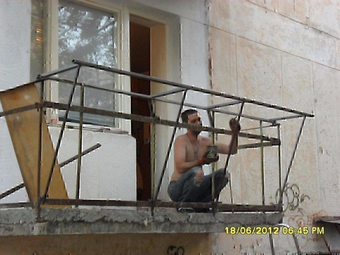 Проект металлической рамы балкона с кронштейнами. - цена на .