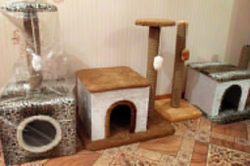Как сделать когтеточку для кота с домиком