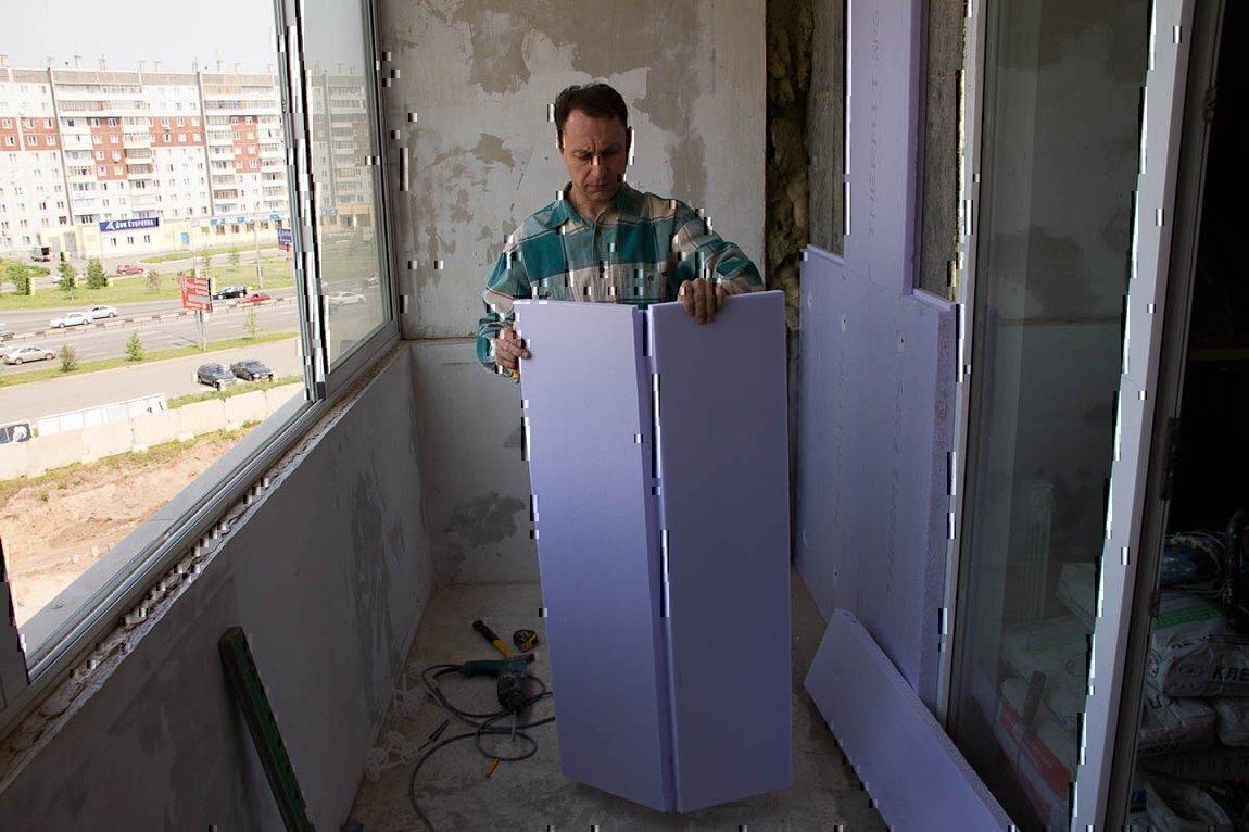 Утепление балкона - пошаговая инструкция, как сделать своими.