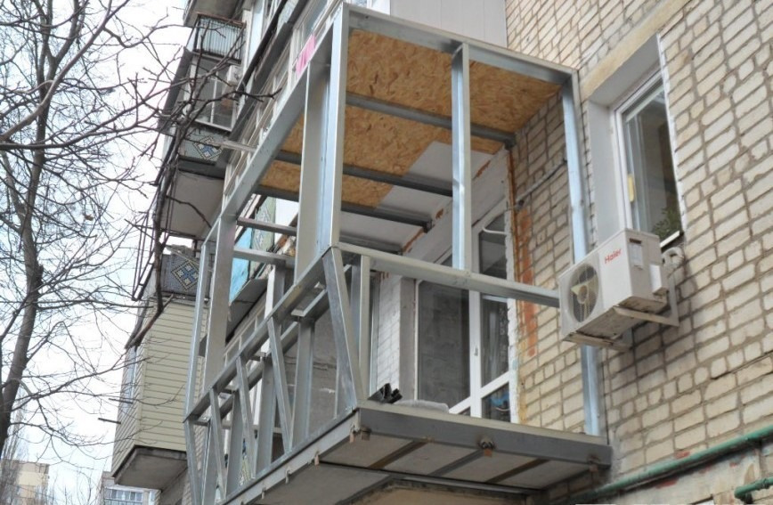 Ремонт металлических балконов..