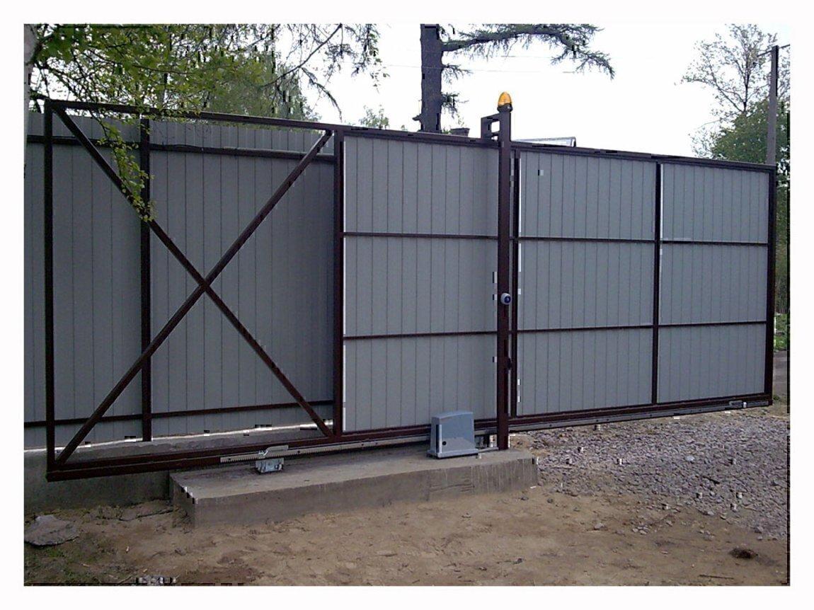 Легкме откатные ворота для дачи какие лучше делать въездные ворота