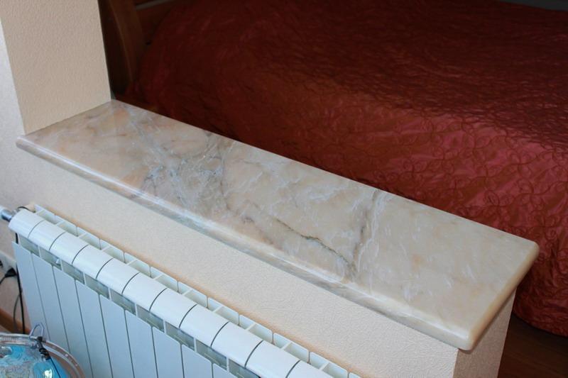 Столешница на балкон из камня. правильные замер и установка.