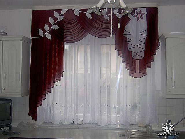 Фото штор в зал своими руками