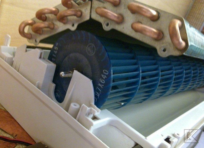 Как снять теплообменник с внутреннего блока кондиционера схема теплообменника катера амур