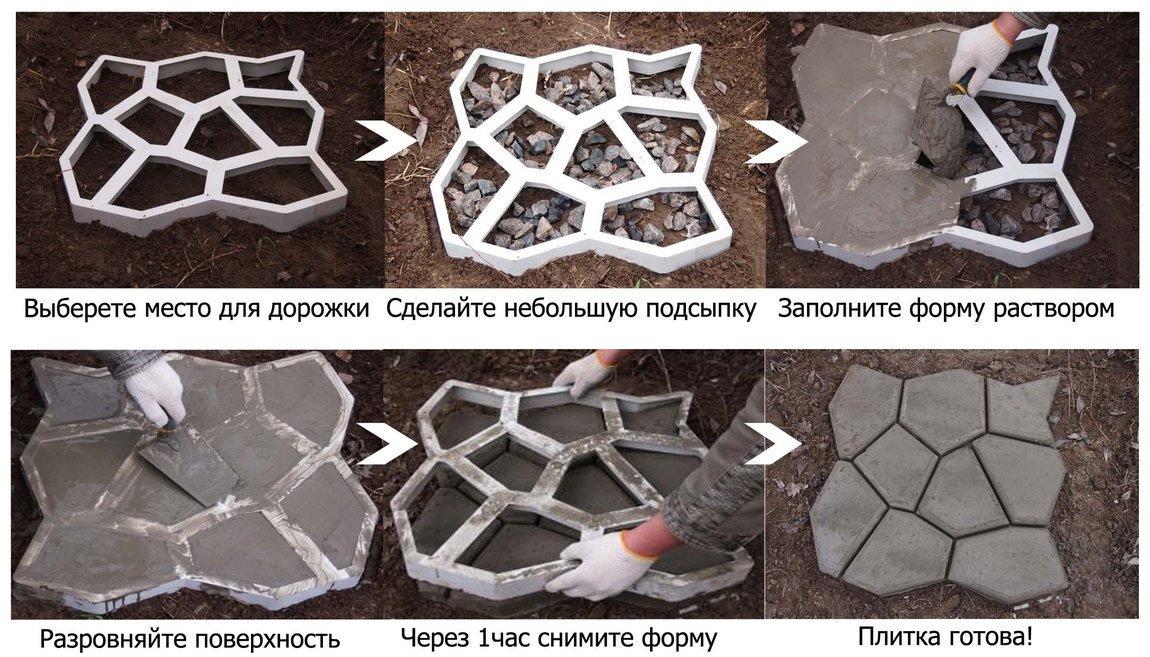 Формы для тротуарной плитки своими руками технология изготовления