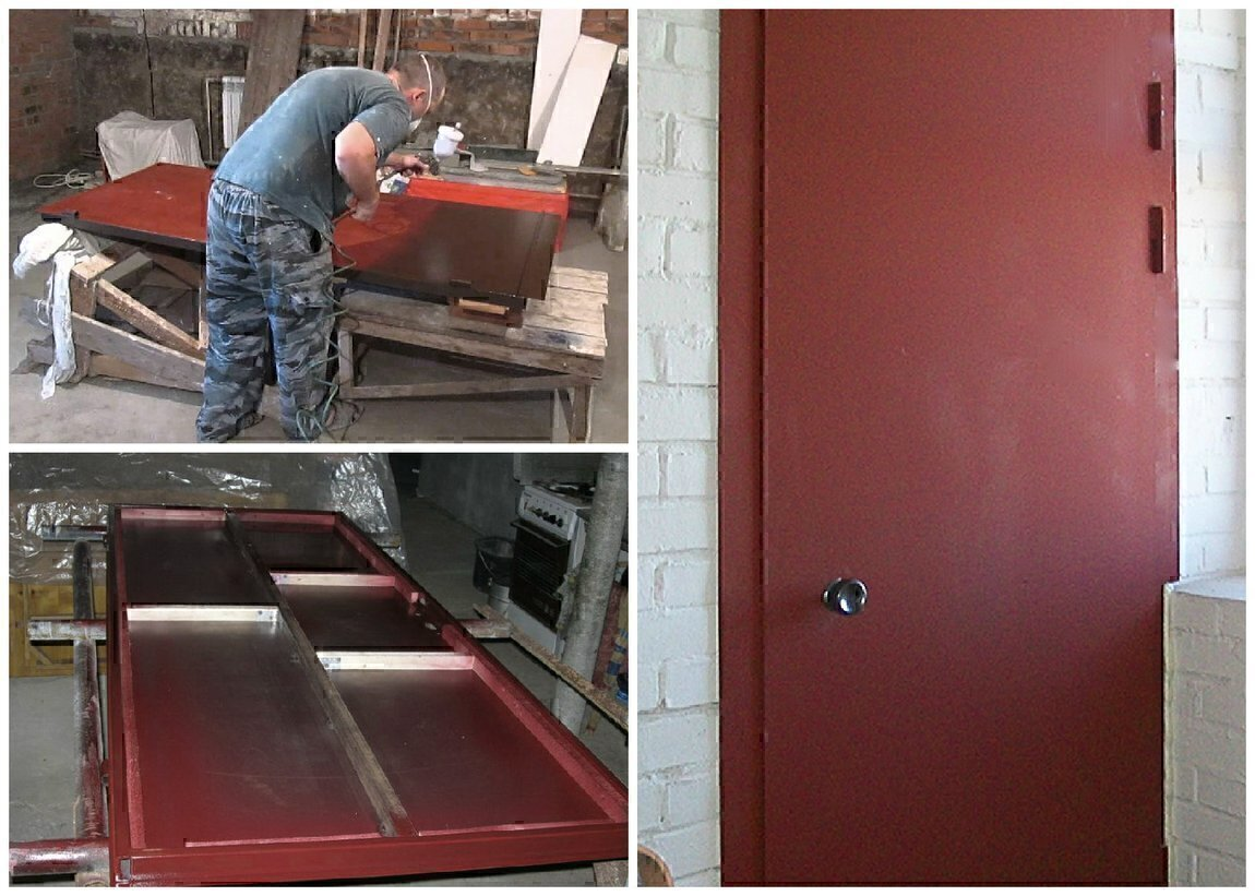 В домашних условиях изготовление дверей