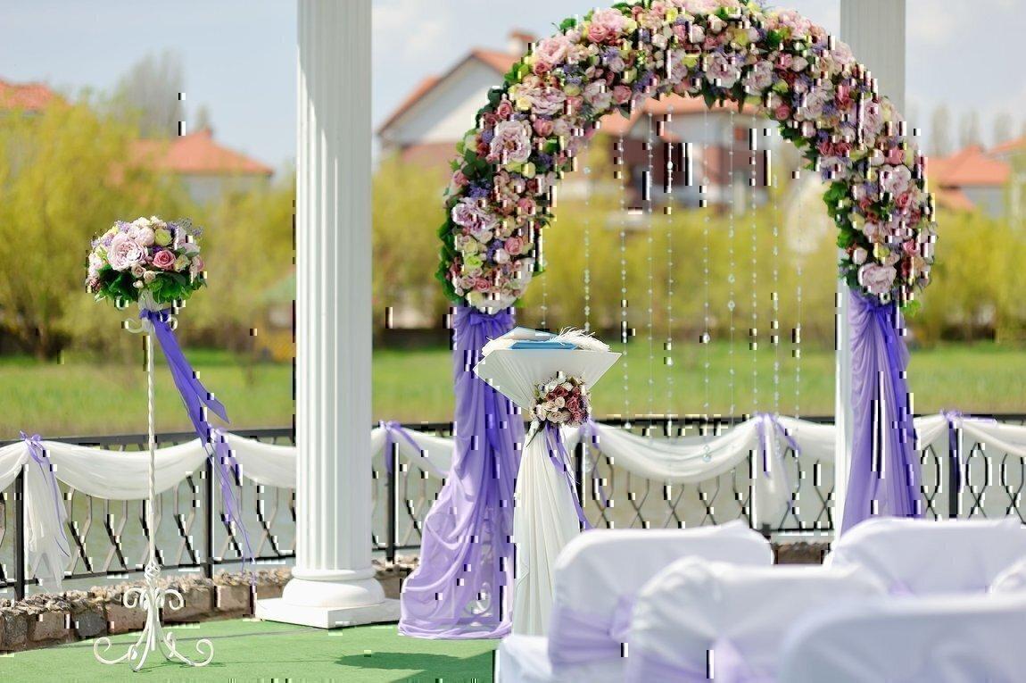 Как украсить беседку на свадьбу недорого фото