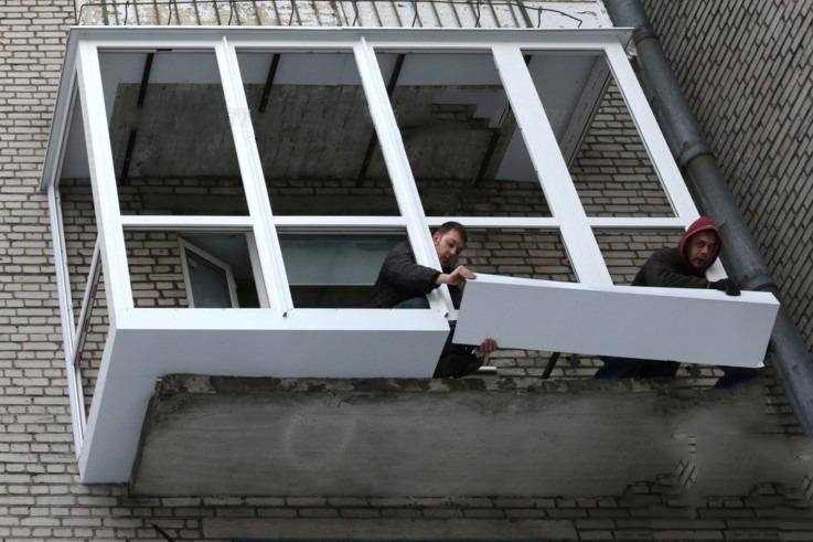 Как установить пвх балкон..
