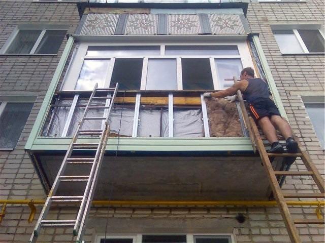 Ремонт балконной плиты под ключ.