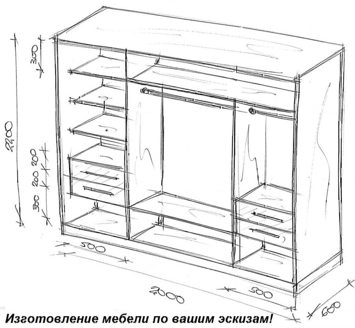Дизайн шкафовкупе чертежи с размерами Дизайн