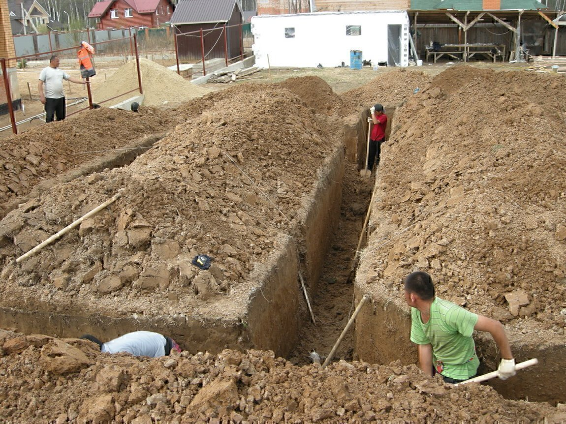 Копаем траншею под канализацию своими руками 88