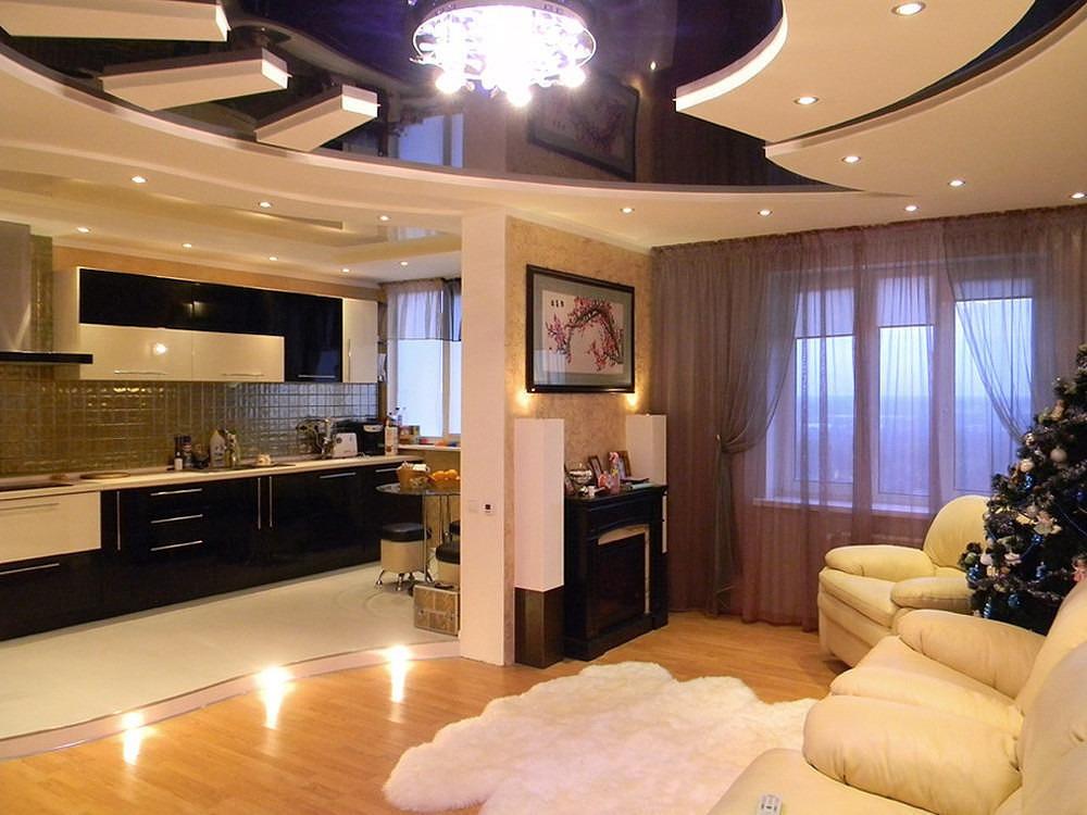Дизайн и ремонт гостинной и кухни