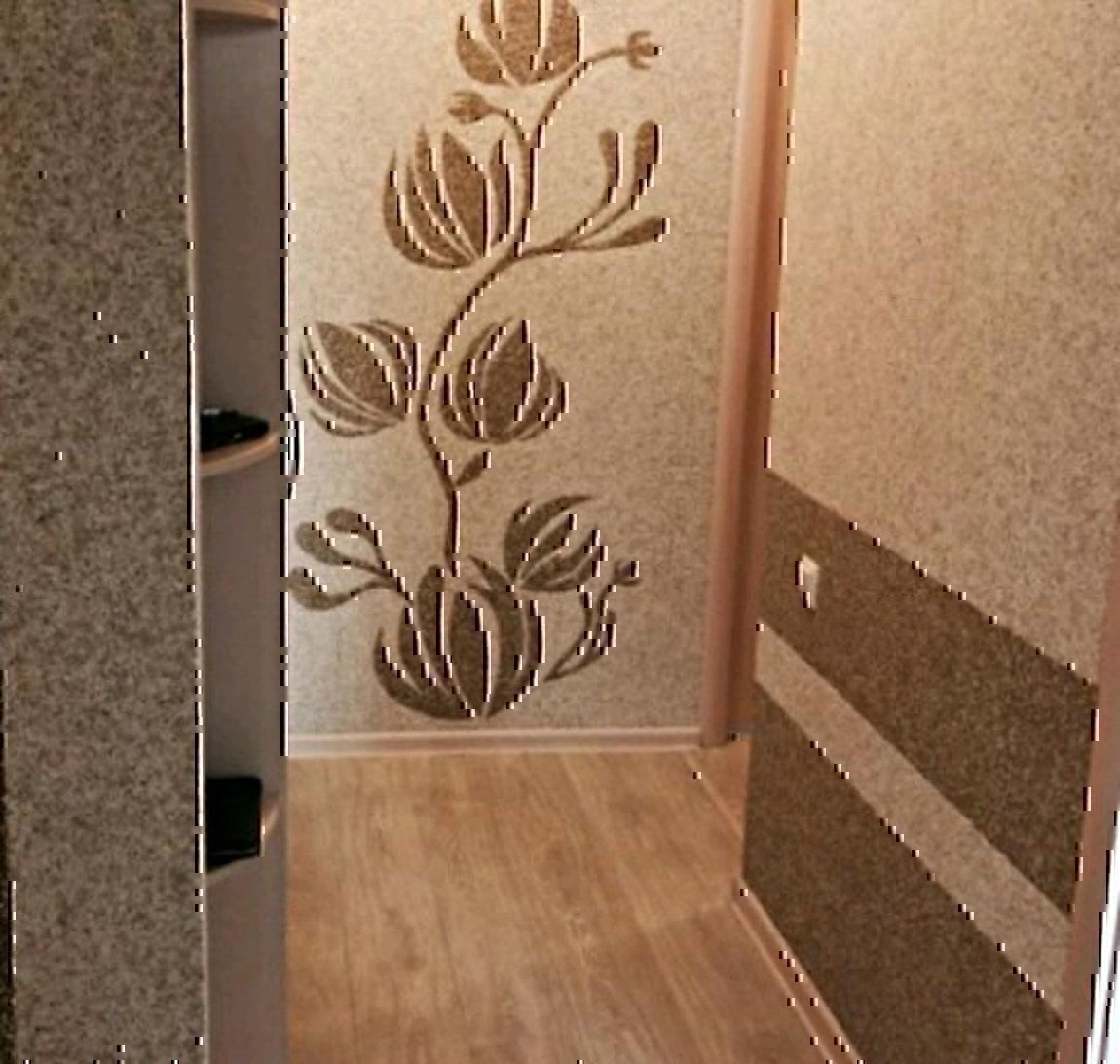 келли жидкие обои рисунки коридор порционными