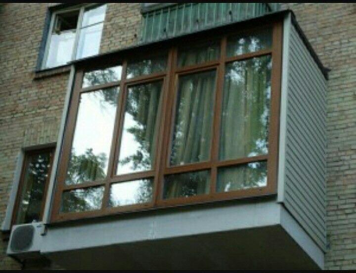 Фото отделки балкона с отстойником.
