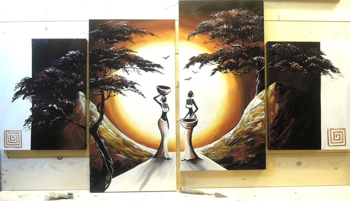 Картины триптих фото в интерьере