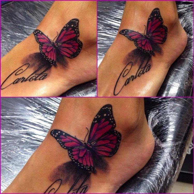 Фото татуировок бабочек маленьких
