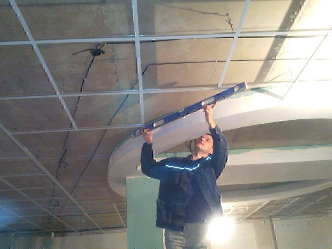 Интерьер подвесных потолков фото видео монтаж