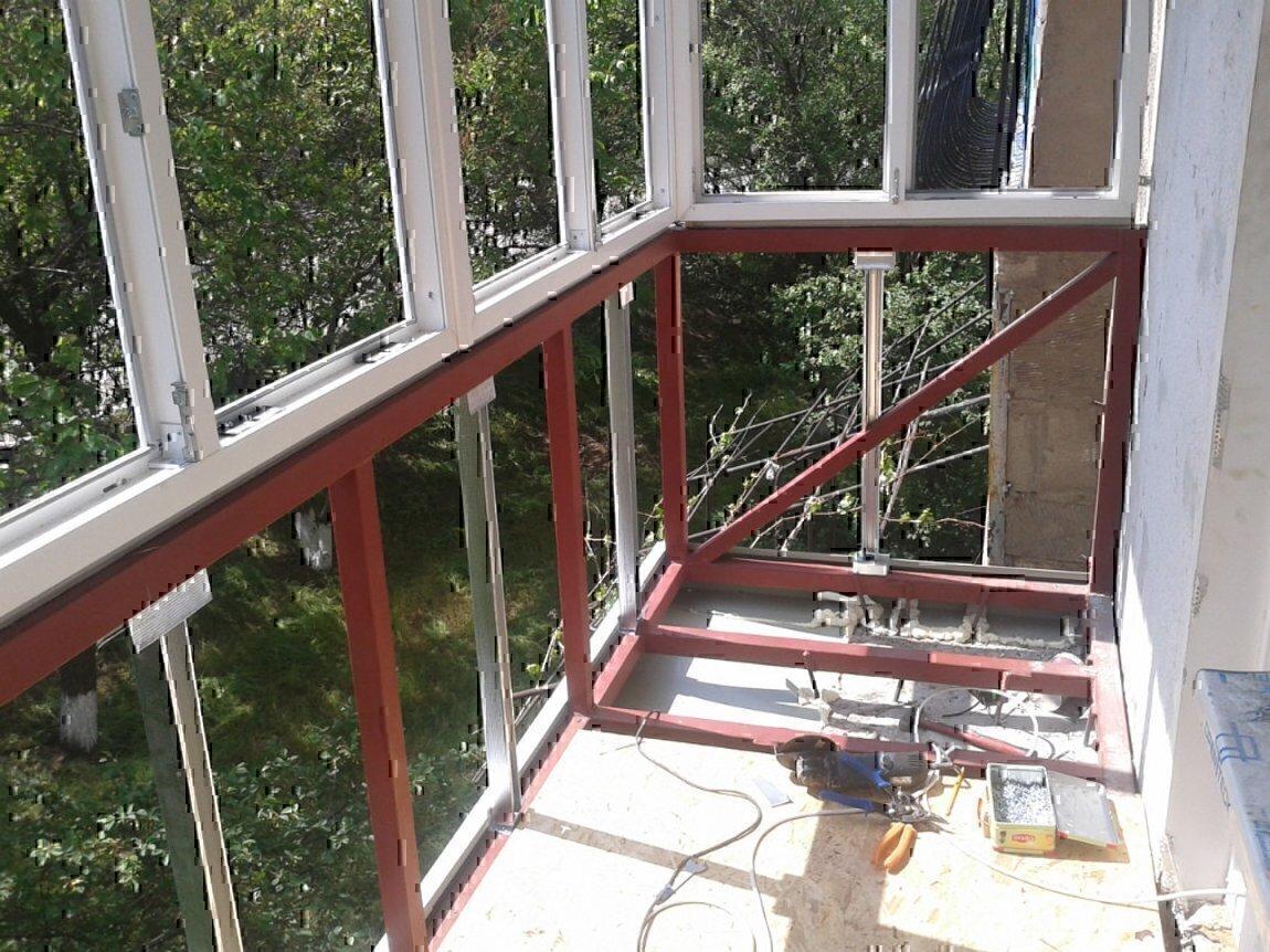 Бельцы. замена металлического каркаса. расширение балконов з.