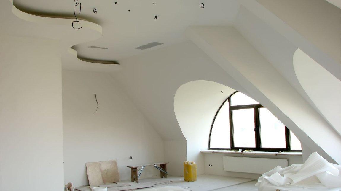 Потолки на мансардном этаже из гипсокартона своими руками