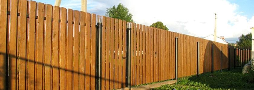 Двойной деревянный забор своими руками