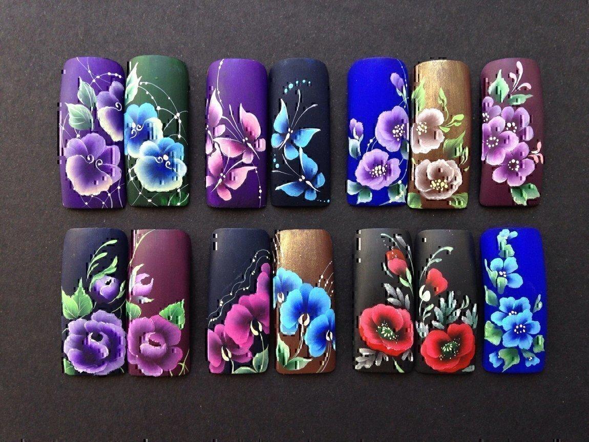 Китайская роспись ногтей для начинающих фото
