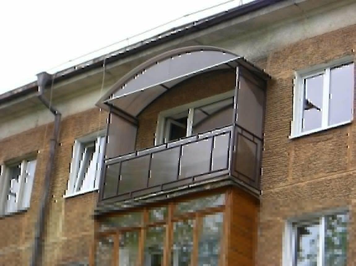 Отделка балкона поликарбонатом фото.