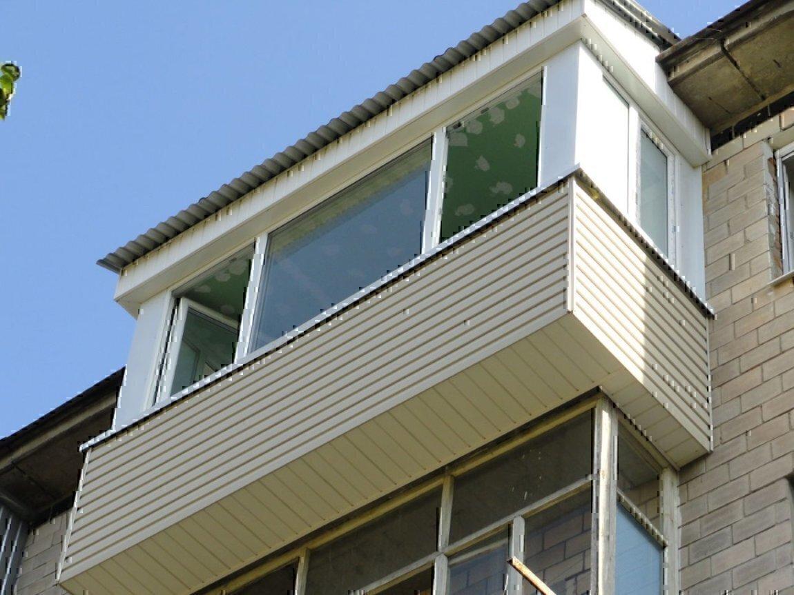 Как сделать вынос на балконе.