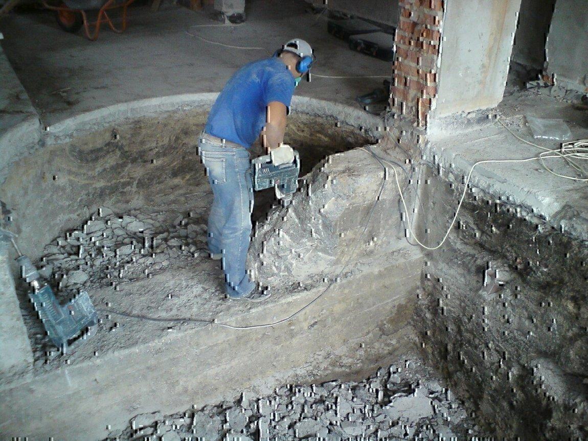 как отремонтировать бетонную стену