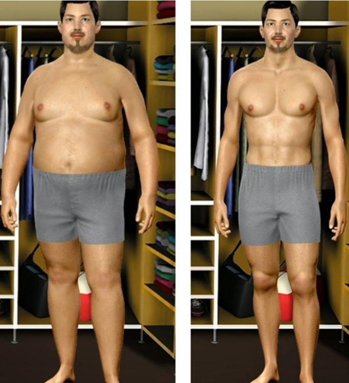 Пример Похудения Мужчинам.