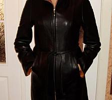 Кожаная куртка женская (плащ), новая