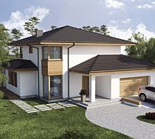 Casa particulara cu doua nivele, stil modern 167 m2.