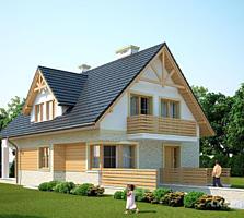 Дом 192 м2 в традиционным стиле, уютный, экономный!!!