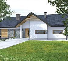 Casa cu un etaj in stil modern, 157 m2!