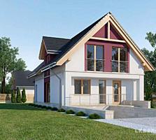 """Теплый дом с мансардой """"белый вариант"""", площадь 170m2!"""